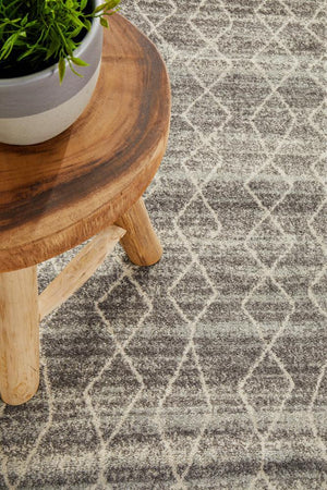 Remy Silver Transitional Runner Rug