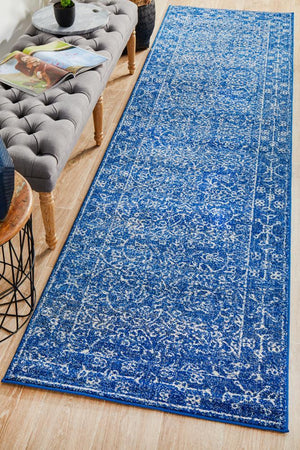 Artist Navy Transitional Runner Rug - Floorsome