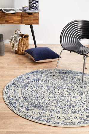 Whisper White Transitional Round Rug