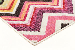 Loti Modern Multi Coloured Rug - Floorsome