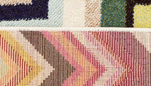 Loti Modern Multi Coloured Runner Rug