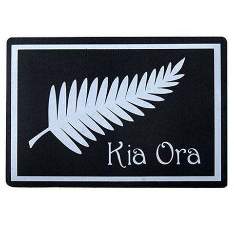 KIA ORA New Zealand Design Recycled Door Mat - Floorsome