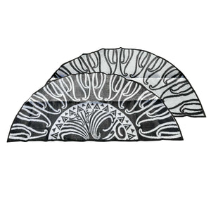 MAURI OORAA, New Zealand Design, Black & White 2.7m Half Circle