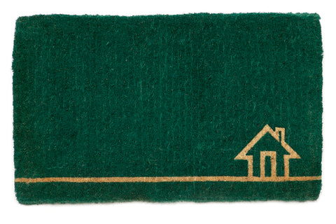 100% Coir Door Mat - Ghar Teal 75x45cm - Floorsome
