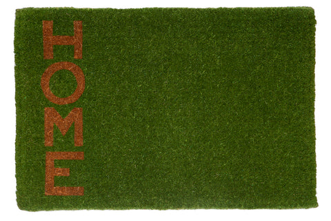 100% Coir Door Mat - Green Home 90x60cm - Floorsome