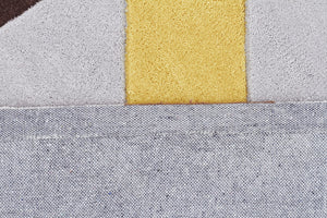 Yellow Brown Grey Crystal Prism Rug - Floorsome