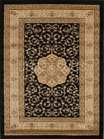 Medallion Classic Design Rug Black - Floorsome