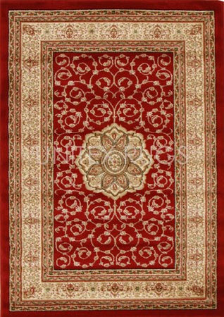 Medallion Classic Design Rug Red - Floorsome