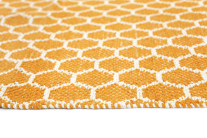 Illusion Orange Natural Cotton Rug