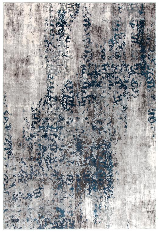 Casper Distressed Modern Rug Blue Grey White Floorsome