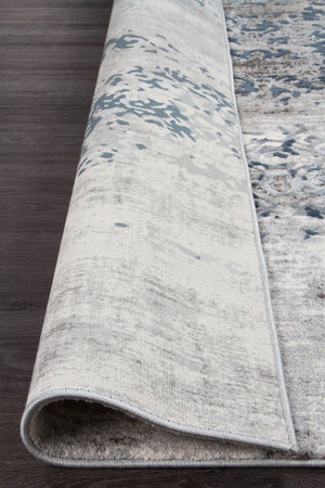 Casper Distressed Modern Rug Blue Grey White - Floorsome
