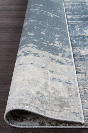 Roxana Distressed Timeless Rug Blue Grey White