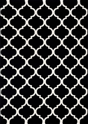 Canyon Black Trellis Rug
