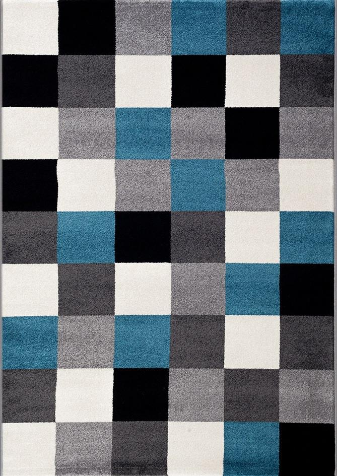 Canyon Grey Square Shape Patterned Ikat Rug