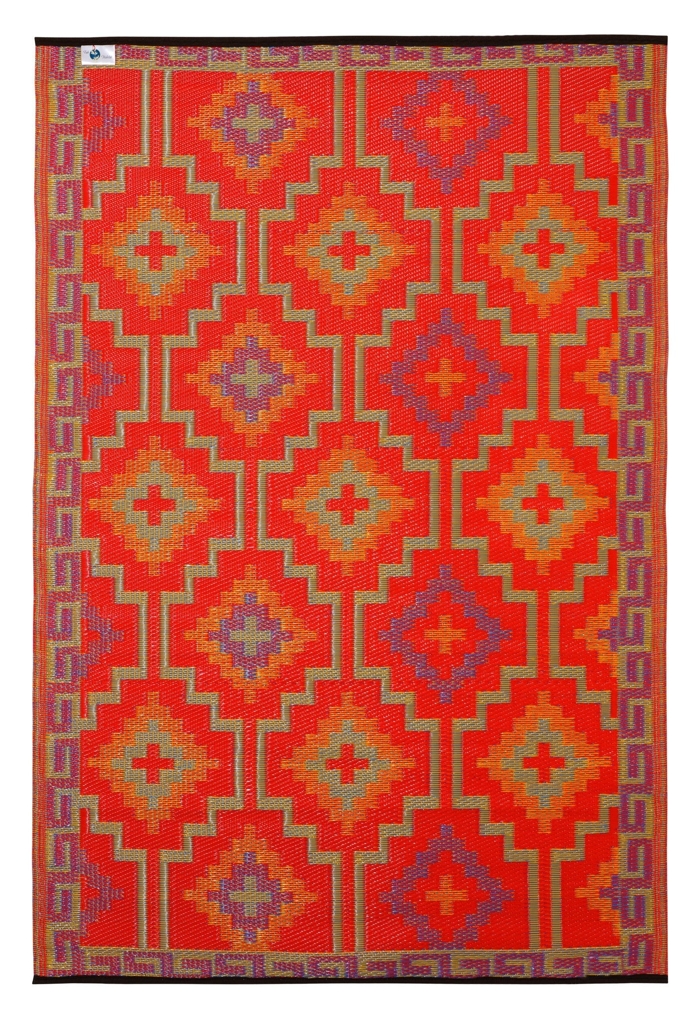 Outdoor Rug Recycled Plastic Lhasa Orange And Violet Floorsome