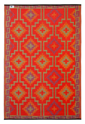Outdoor Rug Recycled Plastic  - Lhasa Orange and Violet