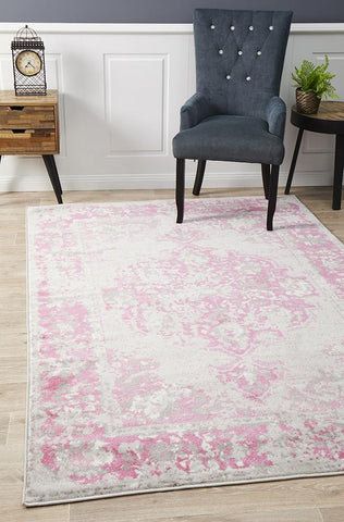 Metro 602 Transitional Rug Grey Fuchsia