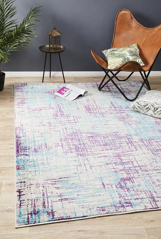 Metro 608 Abstract Rug Grey Blue Purple