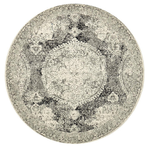 Museum 862 Charcoal Round Rug