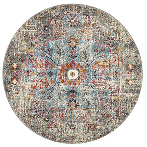 Museum 863 Multi Coloured Round Rug