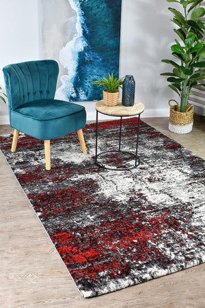 Marvel 651 White Red Rug