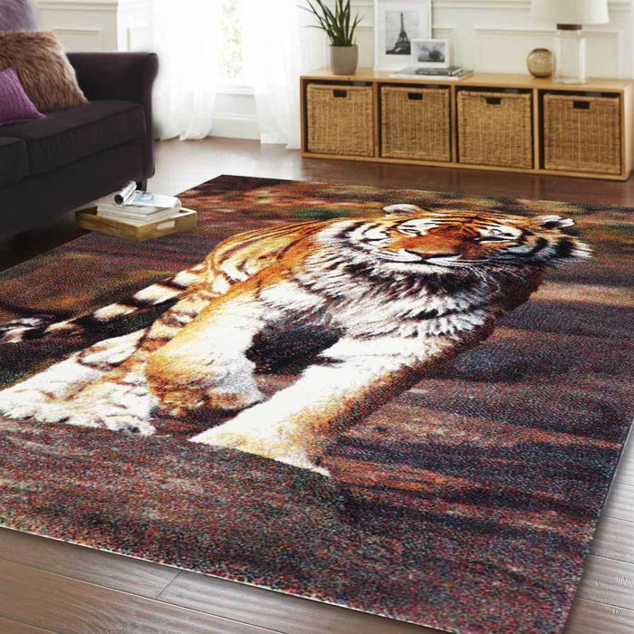 Tiger Multi Coloured Rug