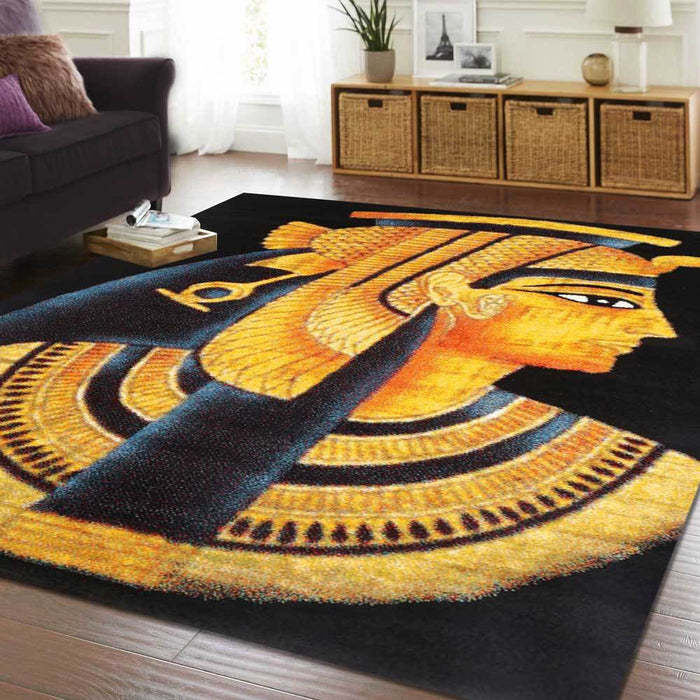 Egyptian Pharoah Black Rug