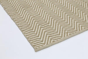Natura Chevron Limestone and White Wool Rug