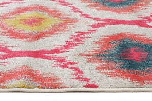 Gypsy Heirloom Rug Pink Yellow Grey - Floorsome