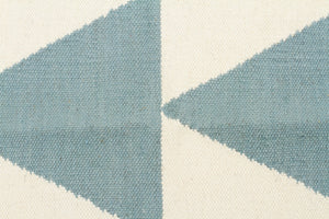 Pyramid Flat Weave Rug Blue - Floorsome