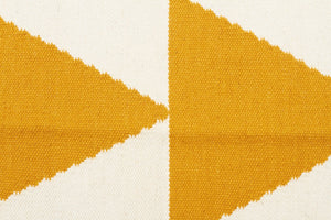 Pyramid Flat Weave Rug Yellow - Floorsome