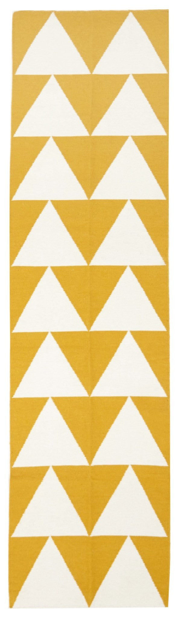 Pyramid Flat Weave Runner Rug Yellow