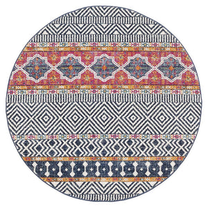 Oasis 455 Multi Tribal Round Rug
