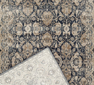 Esquire Balance Traditional Blue Rug