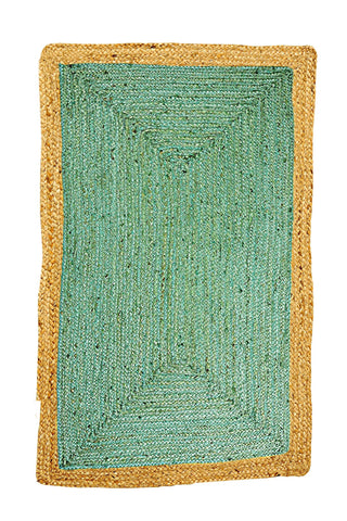 Jute Rug - Phoenix Sea Green - Floorsome