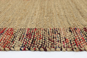 Mahal Multi Colour Border Jute Rug