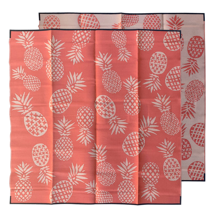 TUTTI FRUTTI Recycled Plastic Mat, Sunset Orange 3 x 3m