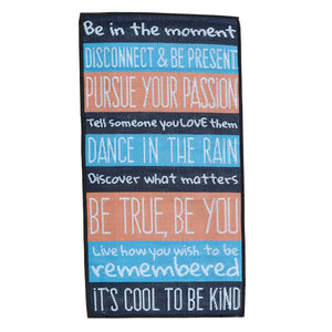DAILY LIFE REMINDERS Recycled Mat, Multi Colour 0.9x1.8m - Floorsome