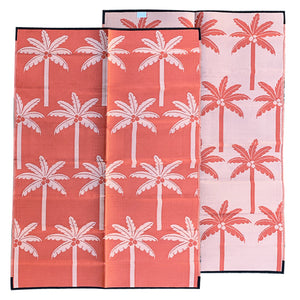 PALM SPRINGS Recycled Plastic Mat, Sunset Orange 1.8 x 2.7m