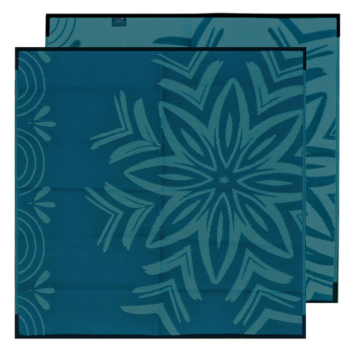 STARBURST Recycled Mat Plastic, Blues 1.8x1.8m