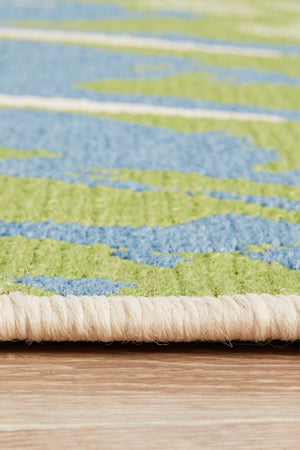 Seaside Green Indoor Outdoor Rug