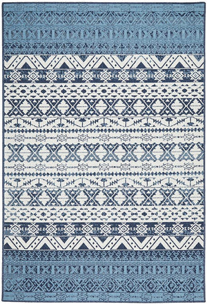 Seaside White Blue Indoor Outdoor Rug