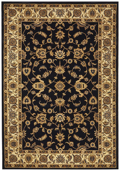 Classic Rug Navy With Ivory Border Floorsome