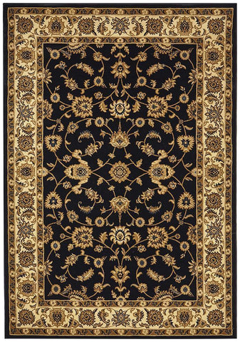Classic Rug Navy with Ivory Border - Floorsome
