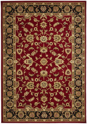 Classic Rug Red with Black Border - Floorsome