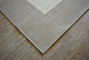 Country Beige Cream Indoor Outdoor Rug