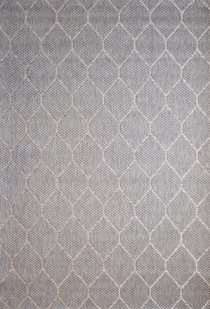 Alfresco Ovals Silver Indoor Outdoor Rug