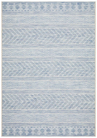 Courtyard 5505 Blue Indoor Outdoor Rug - Floorsome
