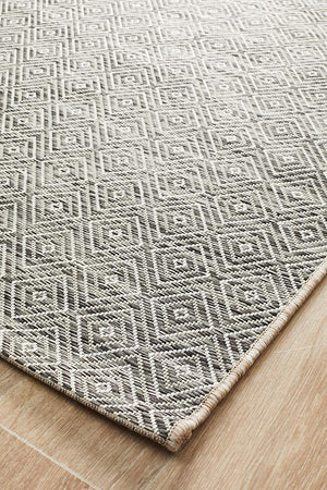 Courtyard Grey Indoor Outdoor Rug - Floorsome