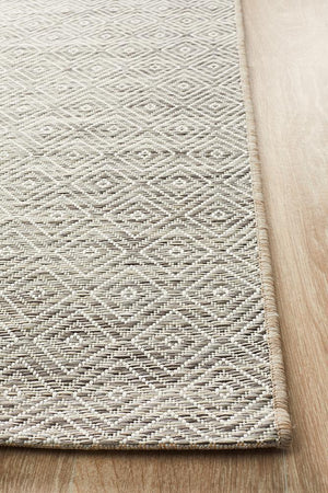 Courtyard Natural Indoor Outdoor Rug - Floorsome